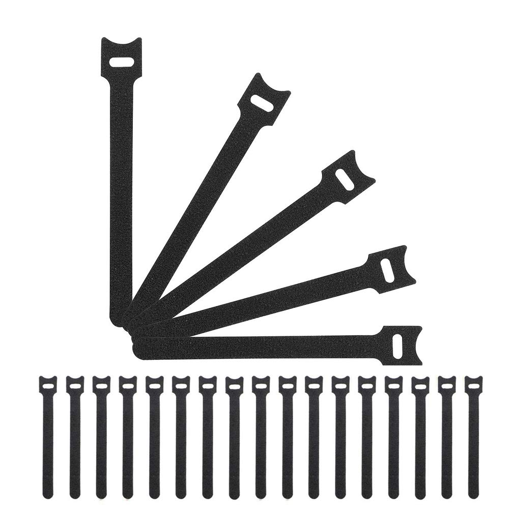MONEIL - 50 bridas reutilizables para cables, de microfibra, con ...