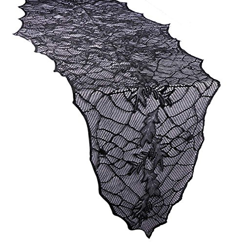 Seven One Funny Halloween Party Table Cover Black Leaf Table Runners for Home Halloween Decorations Props Party Supplies
