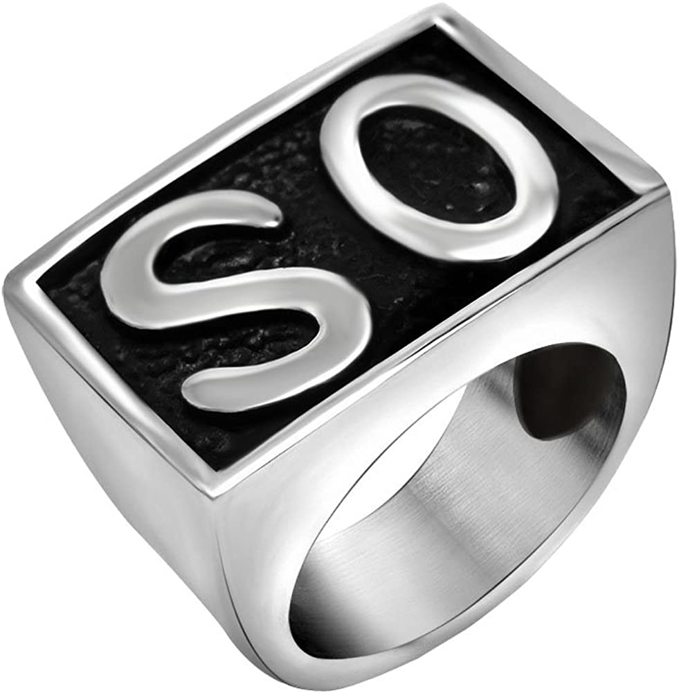 FANSING Biker Ring Mens, Cosplay SO Rings, Stainless Steel, Size 7-12
