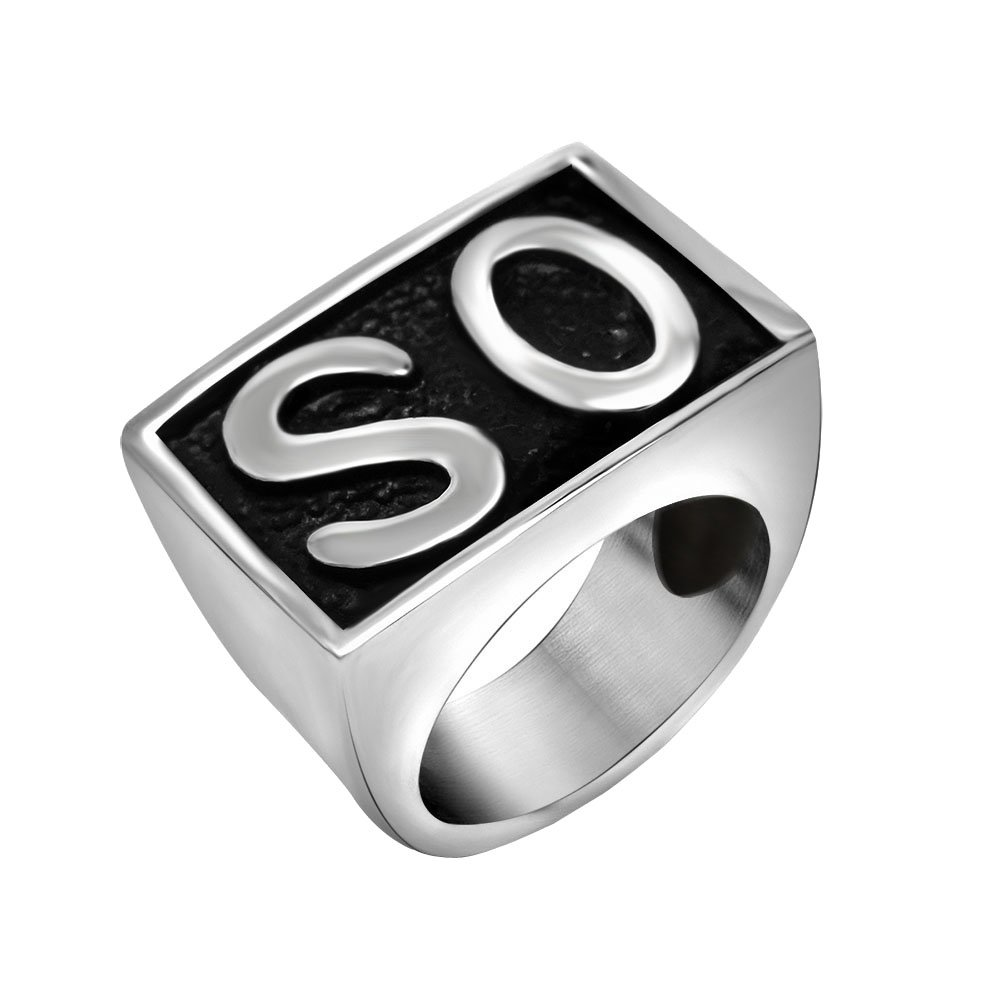 FANSING Biker Ring Mens, Cosplay SO Rings, Stainless Steel, Size 7-12 DGMENGHUAN
