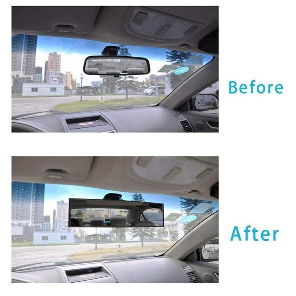300MM Fullwei Rear View Mirror Universal Car Truck Interior Rear View Mirror Suction Cup Rear View Mirror Adjustable Wide Angle Mirror for 55-80mm Wide Rearview Mirror
