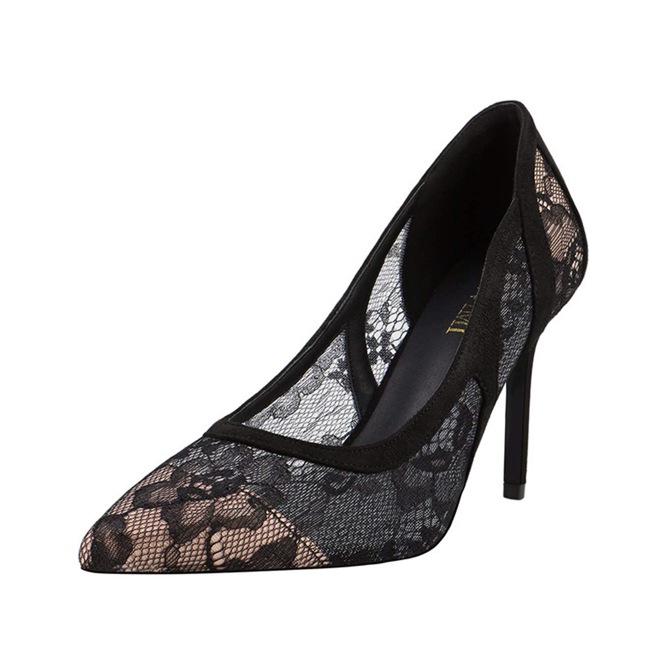 QPGGP-schuhe super - Schuhe sexy mit hohen absätzen europäischen und amerikanischen sexy Schuhe Spitzen - Game super hochhackige Schuh mit flachen Slim betuchte Dame fb3641