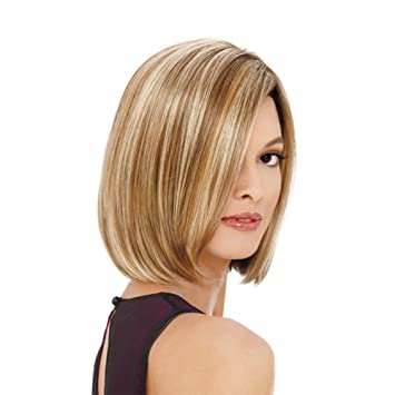 Amazon.com   AneShe Brown and Blonde Ombre Bob Wig Short Straight Synthetic  Hair Full Wigs for Black Women (Brown Mixed Blonde)   Beauty ed0f5b9759