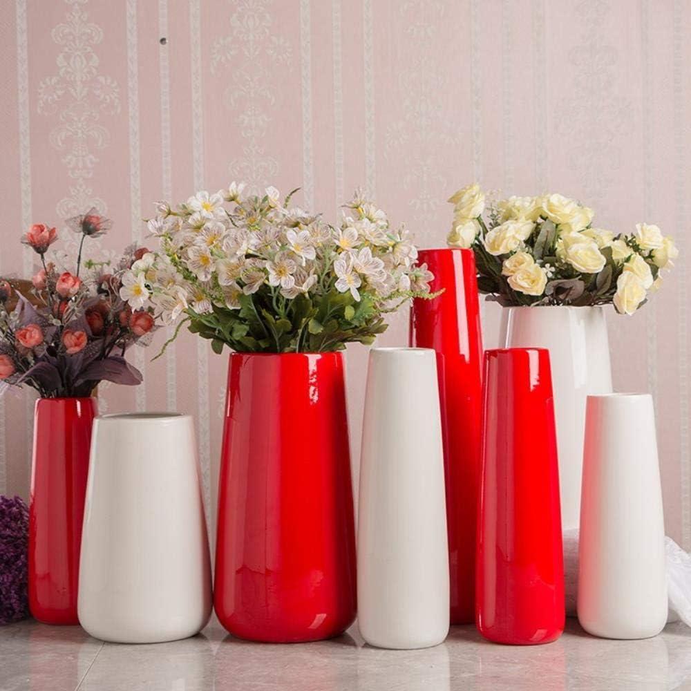 APOO Vase R/étro Accessoires Pot Creative Fleur D/écorative en Gr/ès /À La Main Antique Fran/çais Hydroponique S/èche-Plante Maison H/ôtel Bibelots D/écoration Style Huit