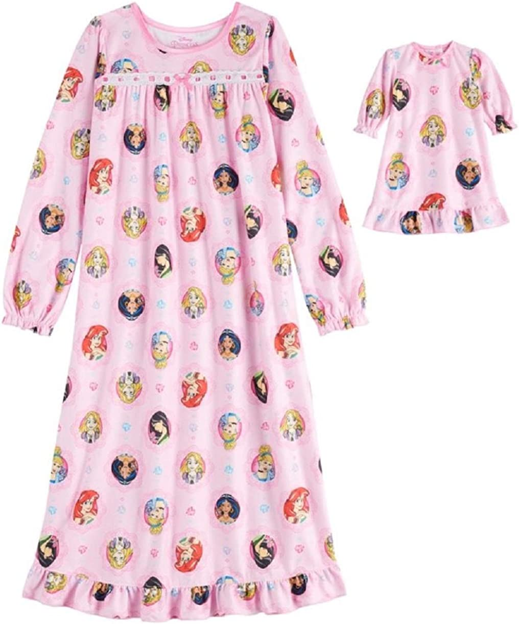 Jxstar Matching Doll /& Girls Nightgowns Pajamas Princess Night Shirts Sleepwear