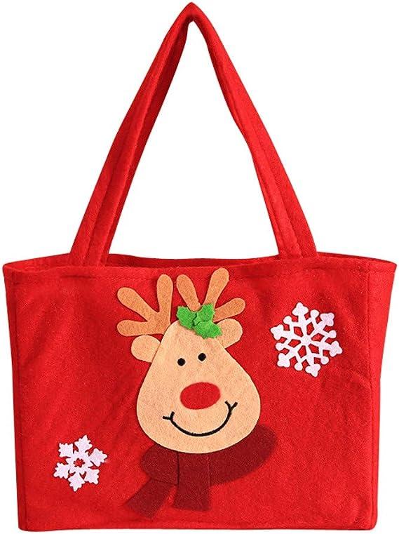 Christmas Shopping Bag Tote Big Storage Gifts Presents Reusable Grocery Santa