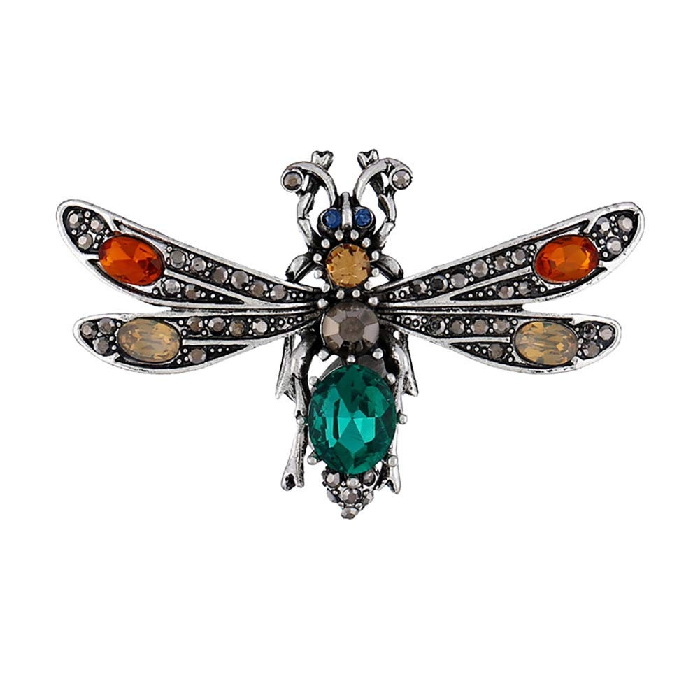 Weimay Dragonfly Pattern Pin Sweater Scarf Jewelry Accessories Vintage Creative Brooch Badge Buckle 1Pcs