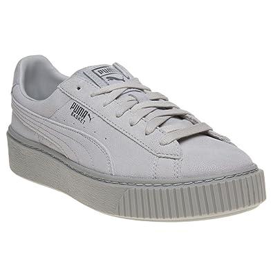 Puma Basket Platform Reset Damen Sneaker Grau: Amazon.de: Schuhe ...