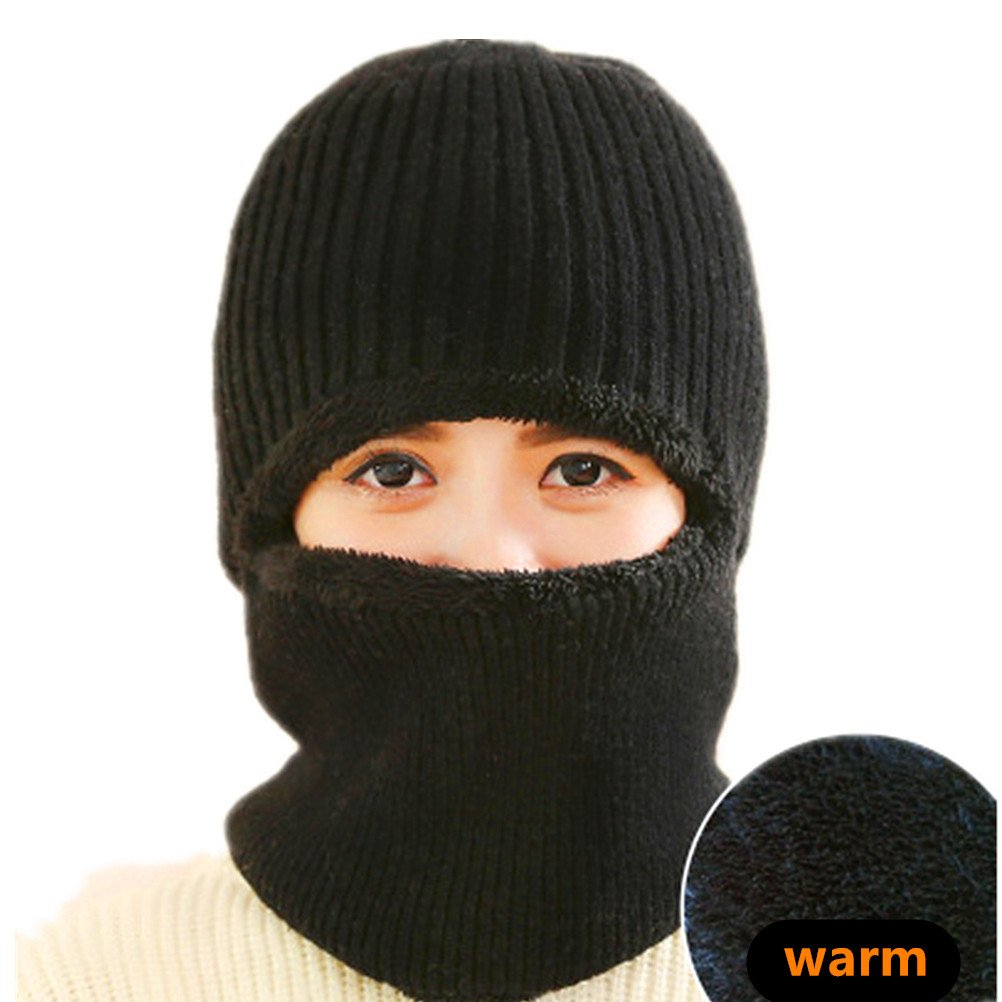 ANBOVER Unisex Winter Beanie Knit Full Set of Outdoor Hats Warm Lined Caps AN17112101