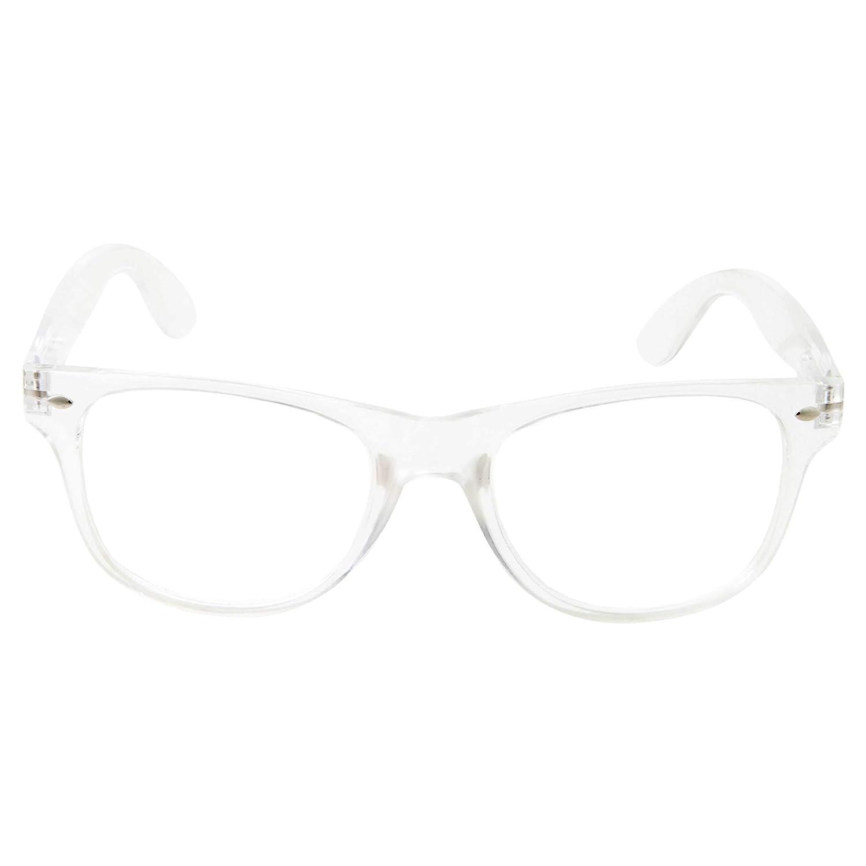10cb01b262 Amazon.com  grinderPUNCH Crystal Clear Frame Lens Transparent Sunglasses  Eyeglasses 2 Pack  Clothing