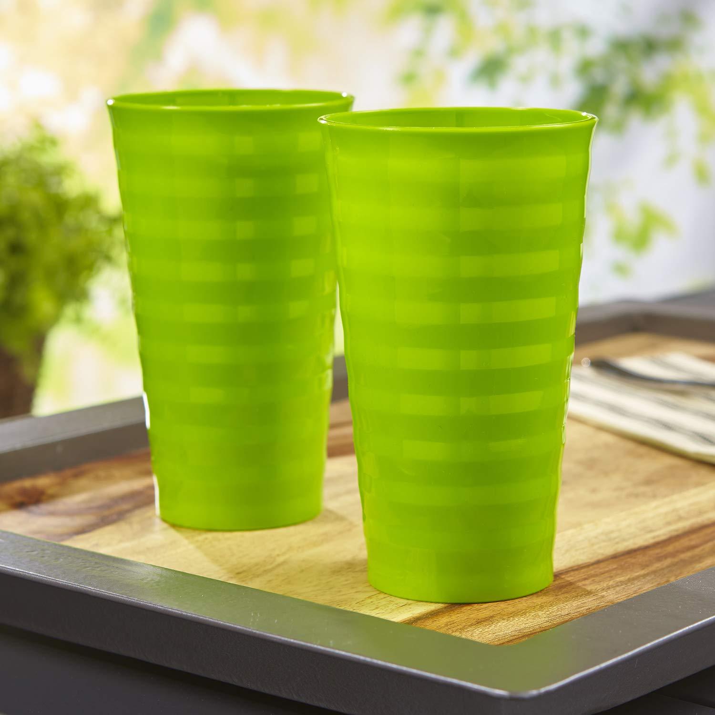 Splash 20-ounce Unbreakable Plastic Tumblers set of 12 Lime