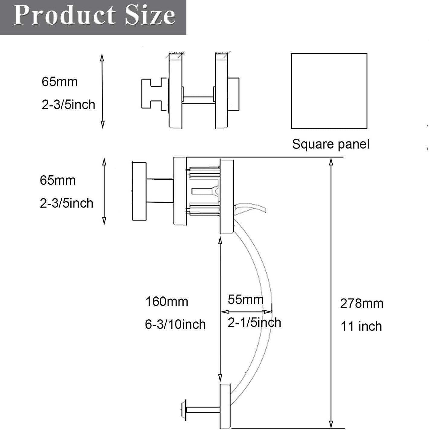 Probrico Single Cylinder Handleset with Knob Handle Single Cylinder Deadbolt Handle Set Satin Nickel Contemporary Hardware with Keyhole and Thumb Button for Entrance and Front Door