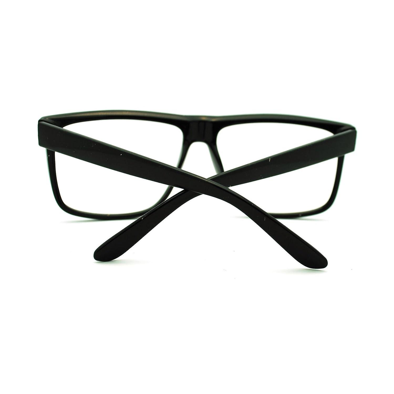 Amazon.com: 80s Normcore Nerdy Geek Large Thin Plastic Frame Eye ...
