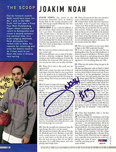 Joakim Noah Autographed Signed Magazine Page Photo Florida Gators S64978 PSA/DNA Certified Autographed College Magazines