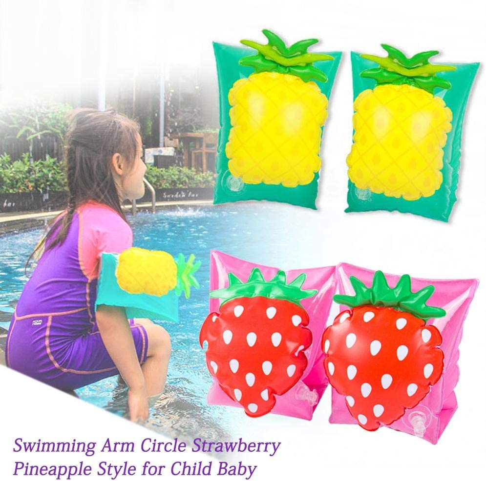 Floater Sleeves Swimming Rings Tube Armlets for Kids Toddlers and Adults ningxiao586 1Pair Inflatable Baby Swimming Arm Strawberry Pineapple Floats Water Wings Arm Bands