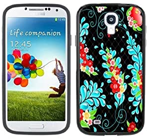 Cherry Blossoms Tattoo Handmade Samsung Galaxy S4 Black Bumper Hard Plastic Case