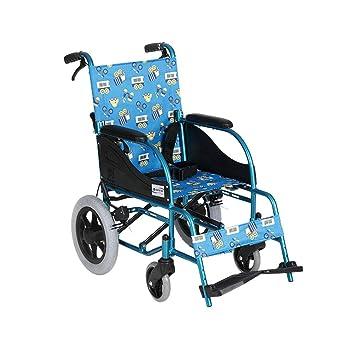 BLWX-Silla de ruedas, Aleación de Aluminio, Silla de Ruedas Manual, Scooter para niños multifunción portátil liviano, Coche de enfermería Silla de Ruedas: ...