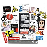 365Cor - 40 PCS Developer Docker Hacker CSS Programmer SQL Funny Bicycle Stickers for PC Mobile