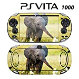 Decorative Video Game Skin Decal Cover Sticker for Sony PlayStation PS Vita (PCH-1000) - Baby Elephant and Egrets