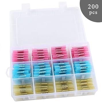 ManYee 200 PCS 3 Farben 10-22 AWG Kabelverbinder Stoßverbinder ...