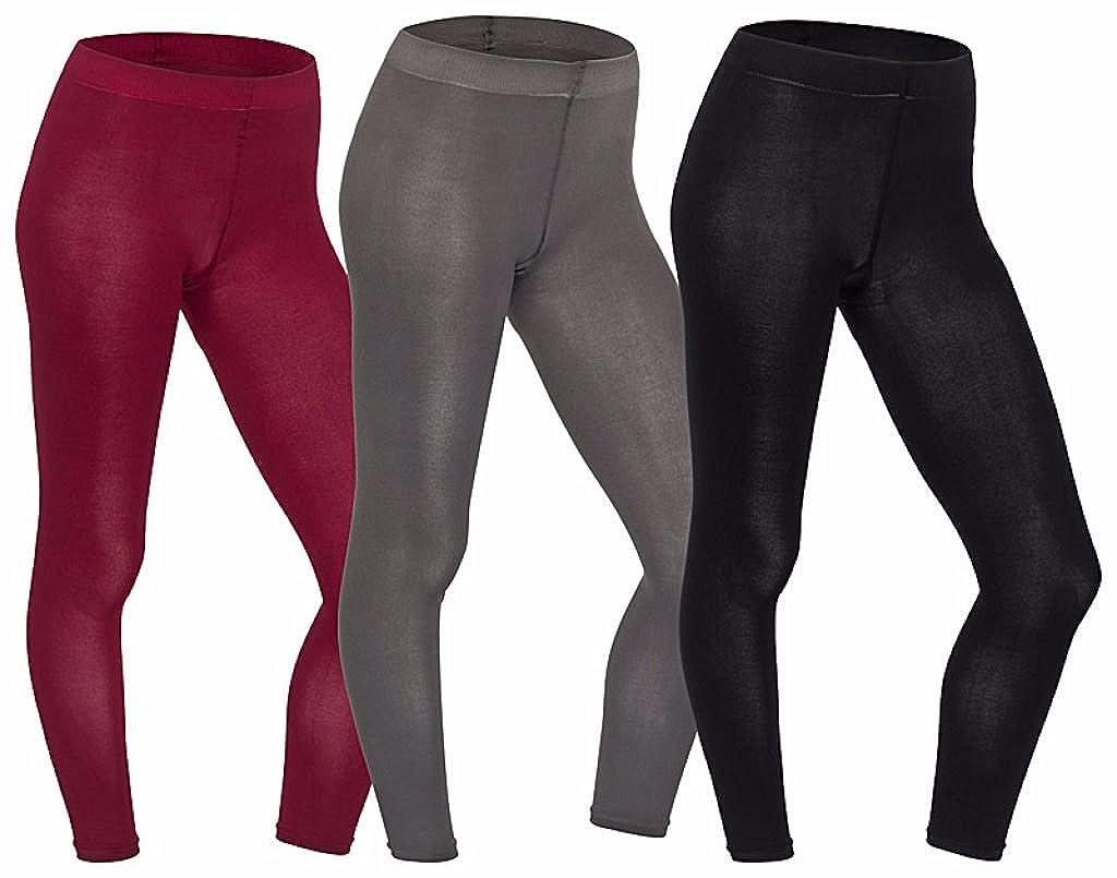 1 Stück Damen-Legging, 80 den, blickdicht, antibakteriell, keine Geruchsbildung, breiter Bund mit Zwickel, in Schwarz, Grau o. Rubin, S, M, L 1 Stück Damen-Legging