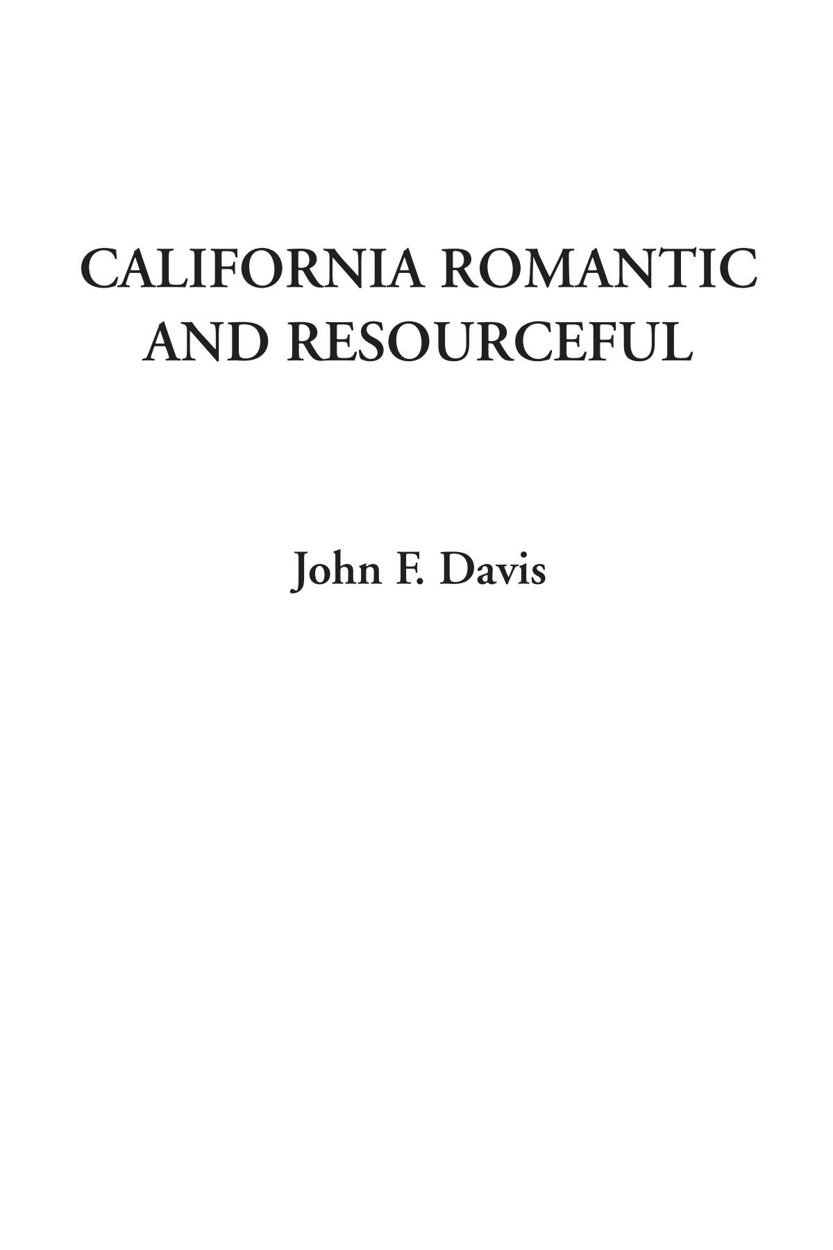 California Romantic and Resourceful pdf epub