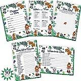 Woodland Baby Shower Games - 5x50 Gender Neutral Card Sets