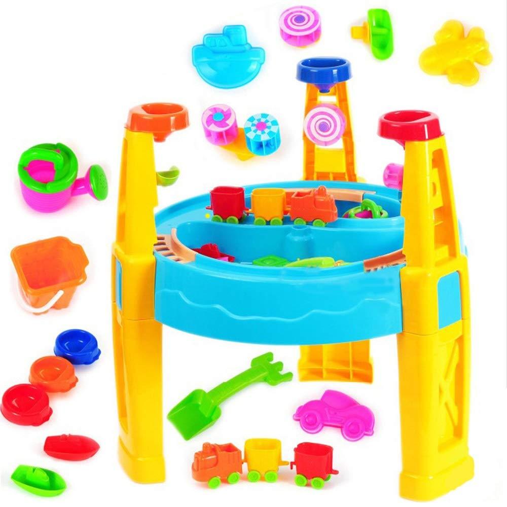 tienda en linea MultiColor Mesa Mesa Mesa de arena y agua Juego de juguetes de playa Juego de juguetes de construcción de castillos de mesa para niños Juego de cubos de playa con moldes Palas de cubo Rastros Juego de roles Piscina de are Free Talla  liquidación hasta el 70%