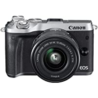 Canon EOS M6 Single Kit with EF-M 15-45mm IS STM Compact System Camera(M6KISS) 3 Inch Display,Silver (Australian…