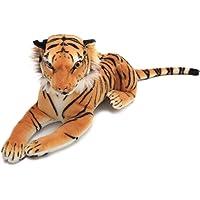 IKASA Realistic Tiger Stuffed Animals Toys Plush,Brown,50cm