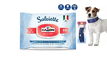 Camon toallitas al tea tree oil & collar refrescante para perros, ...