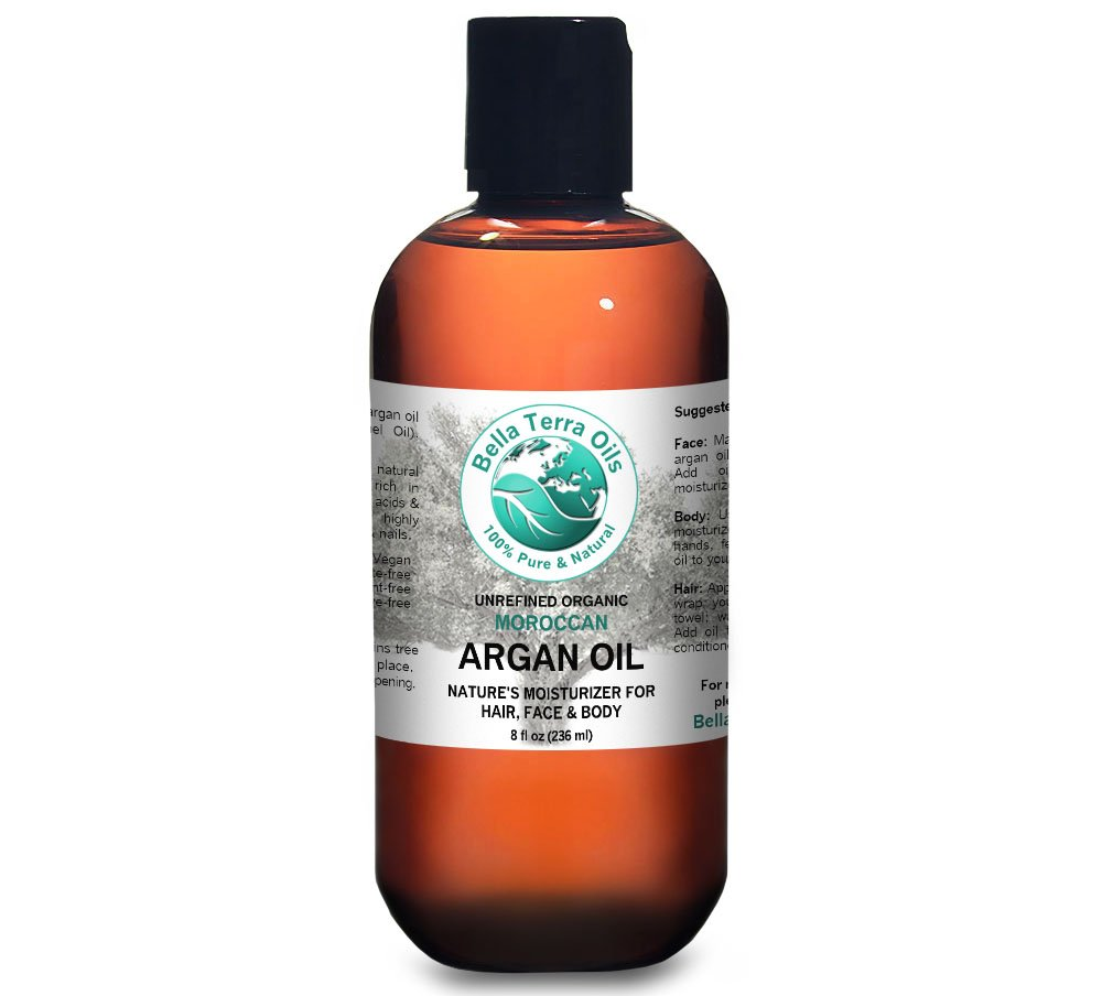 Argan oil 8 oz 100% Pure Moroccan Cold-pressed Organic Unrefined - Bella Terra Oils