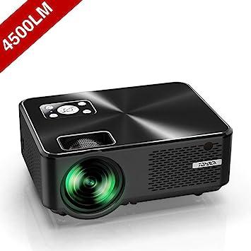 Proyector YABER Mini Portátil Proyector Cine en Casa 4500 Lúmenes Resolución Nativa 1280*720p, Vídeo Proyector Con HiFi Altavoces Incorporados, ...