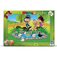 Art Çocuk Frame Puzzle Pepee Ördekli Parkta 48 Parça Puzzle