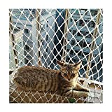 Cat Safety Fence Pet Balcony Net Stair Protection Fall Prevention Anti-Fall Isolation Diameter 6MM Multi-Size White
