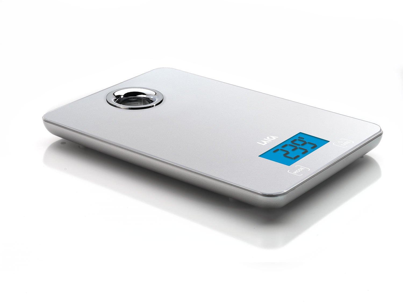 Piattaforma in Vetro Temperato Argento Laica KS1300 Bilancia da Cucina Elettronica 5 kg