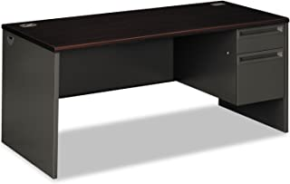 product image for HON 38291RNS 38000 Series Right Pedestal Desk, 66w x 30d x 29-1/2h, Mahogany/Charcoal