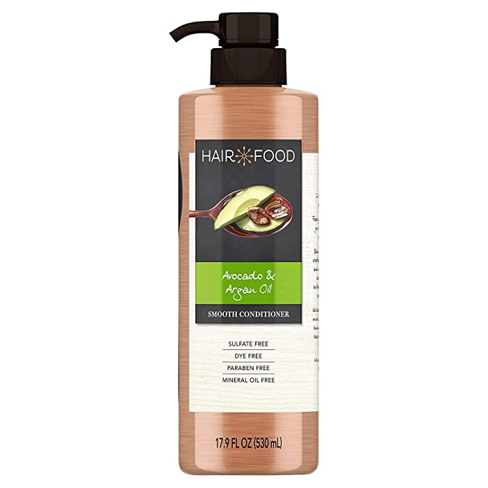 Sulfate Free Conditioner, Dye Free Smoothing Treatment, Argan Oil and Avocado, Hair Food, 17.9 FL OZ