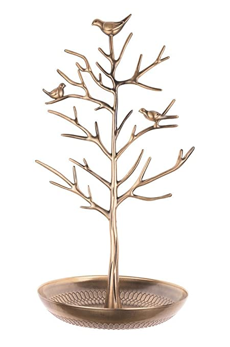 Amazoncom Inviktus Silver Birds Tree Jewelry Stand Display Earring