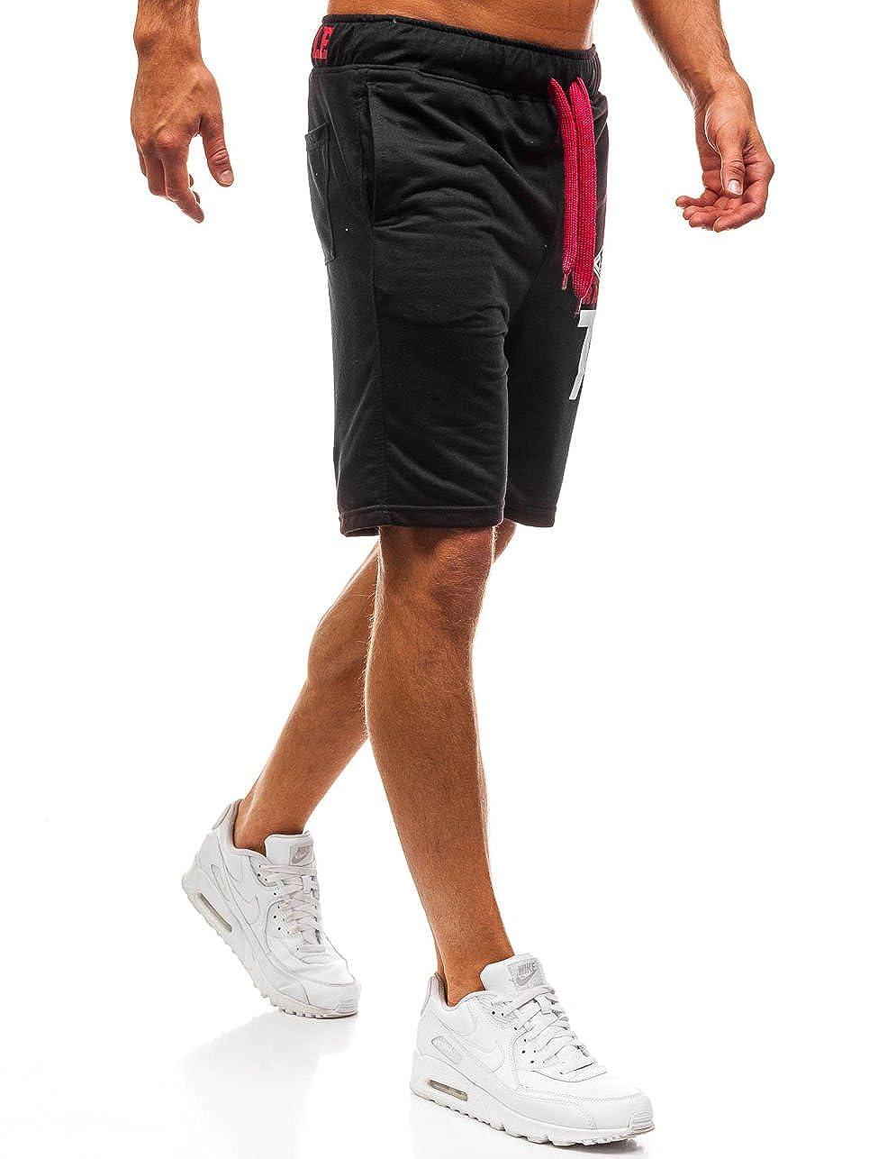BOLF Hombre Pantal/ón Corto Pantal/ón de Ch/ándal Deportivo Pantalones de Algod/ón Estilo Deportivo 7G7