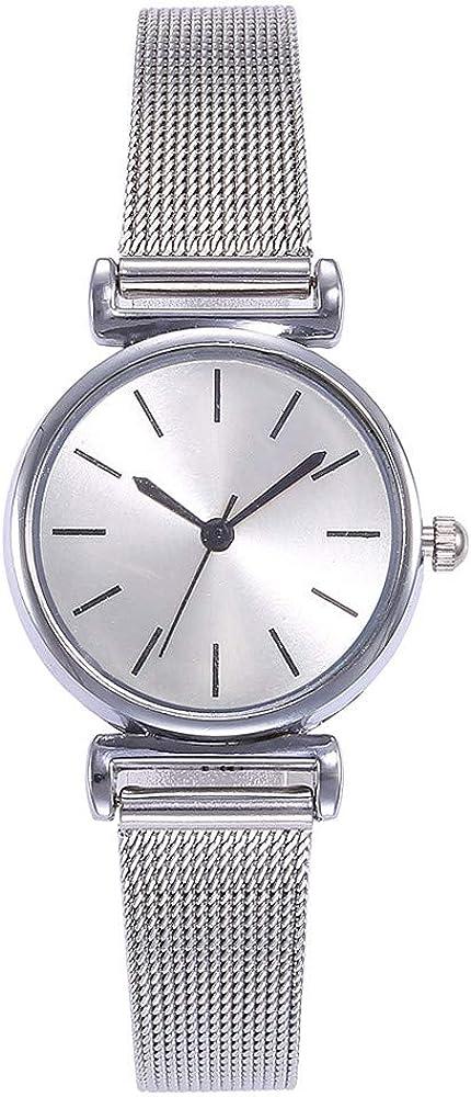 Moderno Reloj de Pulsera para Mujer, clásico, analógico, Mecanismo de Cuarzo, con Malla de Acero Inoxidable, Reloj de Cuarzo, Regalo Leedy