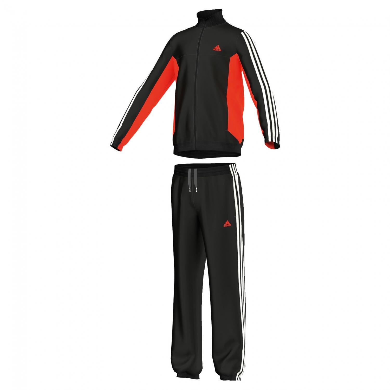 adidas Jungen Trainingsanzug Tiberio Knit Tracksuit CH Black/Solar Red/White 152 S23330 S23330-152