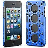 idAmerica IDCA504BLU Gasket V8 Case for iPhone 5 - 1 Pack - Retail Packaging - Blue