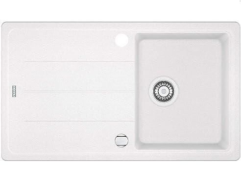 Spülbecken küche weiß  Franke Basis BFG 611-86 Glacier Granit Spüle Weiß Einbau-Spüle ...