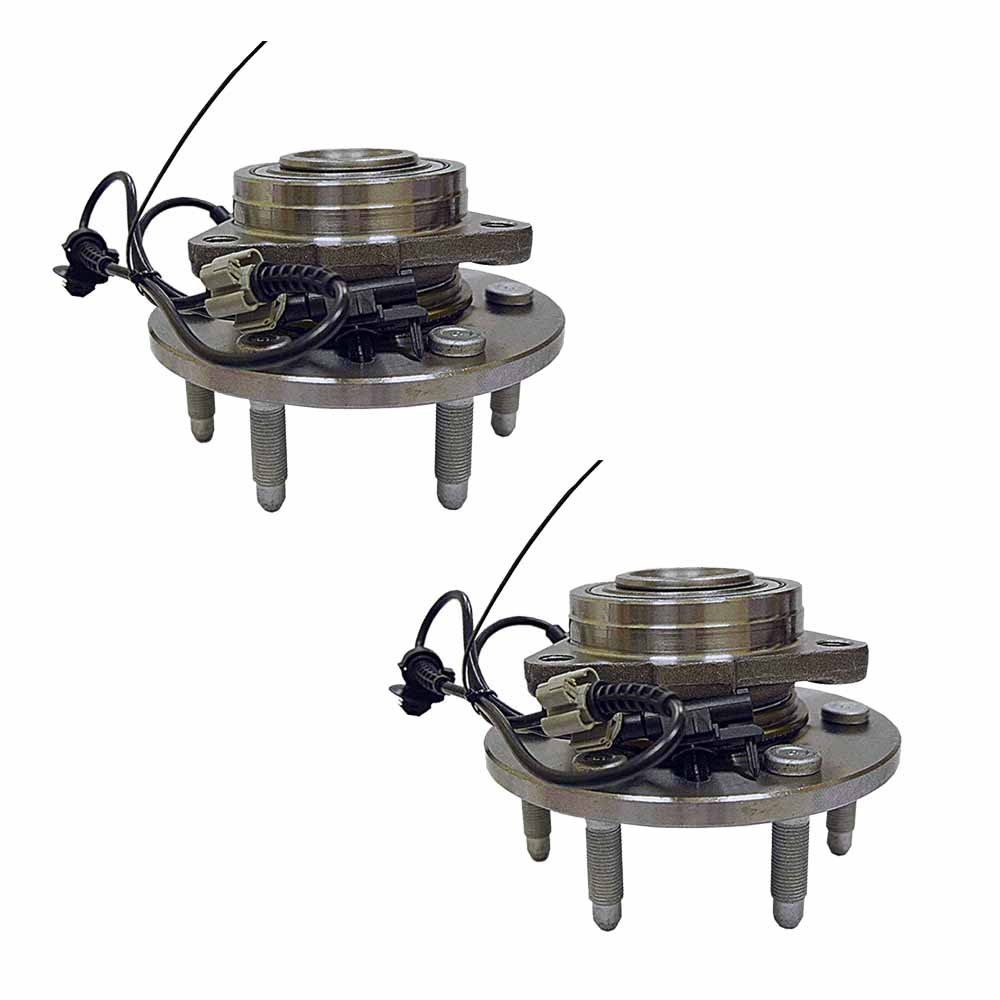 515096 x 2 ( Set of 2 ) Brand New Hub Assembly Front Left And Right Side ( 6 Lug Only For 4WD ) Fit 07 - 14 Escalade Chevy Suburban 1500 TAHOE Yukon XL, 07 - 13 Avalanche Silverado 1500 Sierra 1500