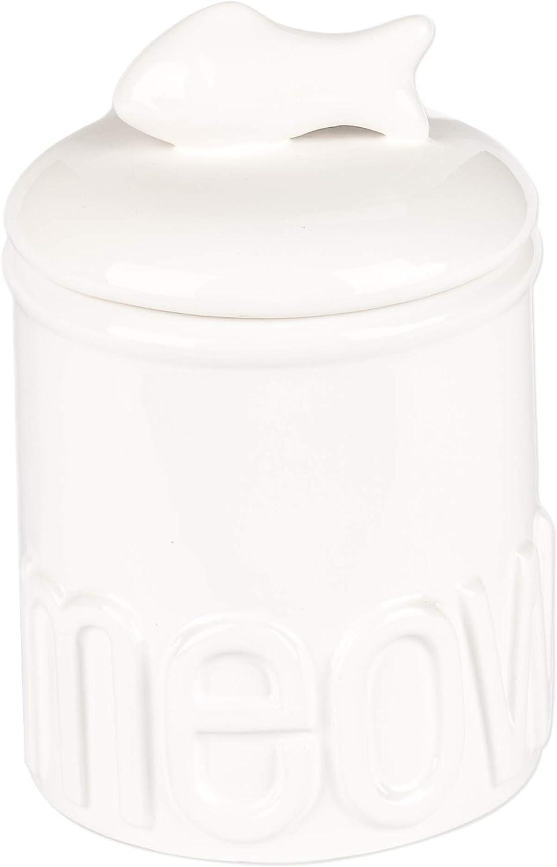 Creature Comforts Meow Treat Jar - White - Small