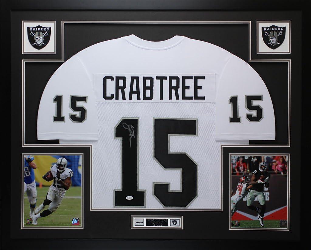 Amazon.com: Michael Crabtree Autographed White Jersey ...