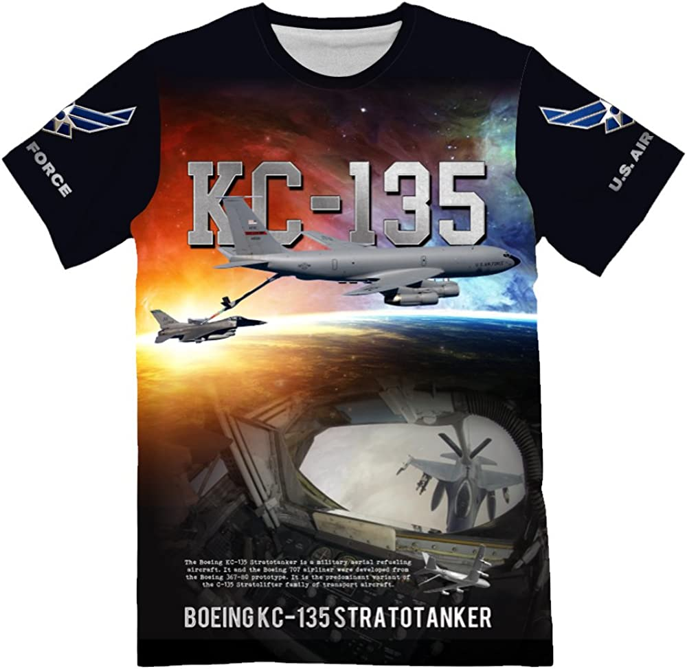 Military Lover Gift NIWAHO USAF Air Force C-17 Globemaster 3D Allover Printed T-Shirt for Men