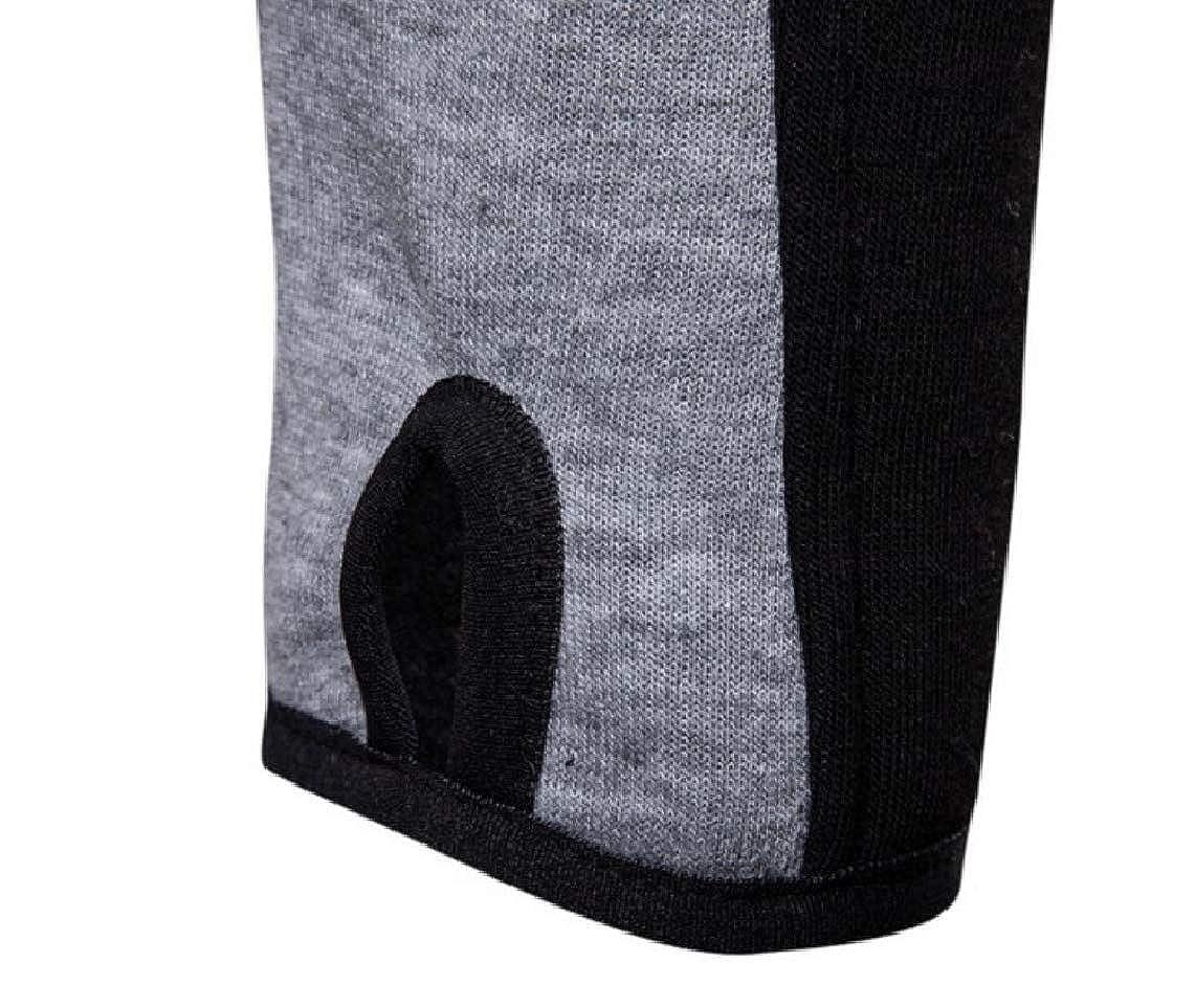 Yayu Mens Hoodies Thumb Hole Cuffs Color Block Active Workout Sweatshirt Jackets