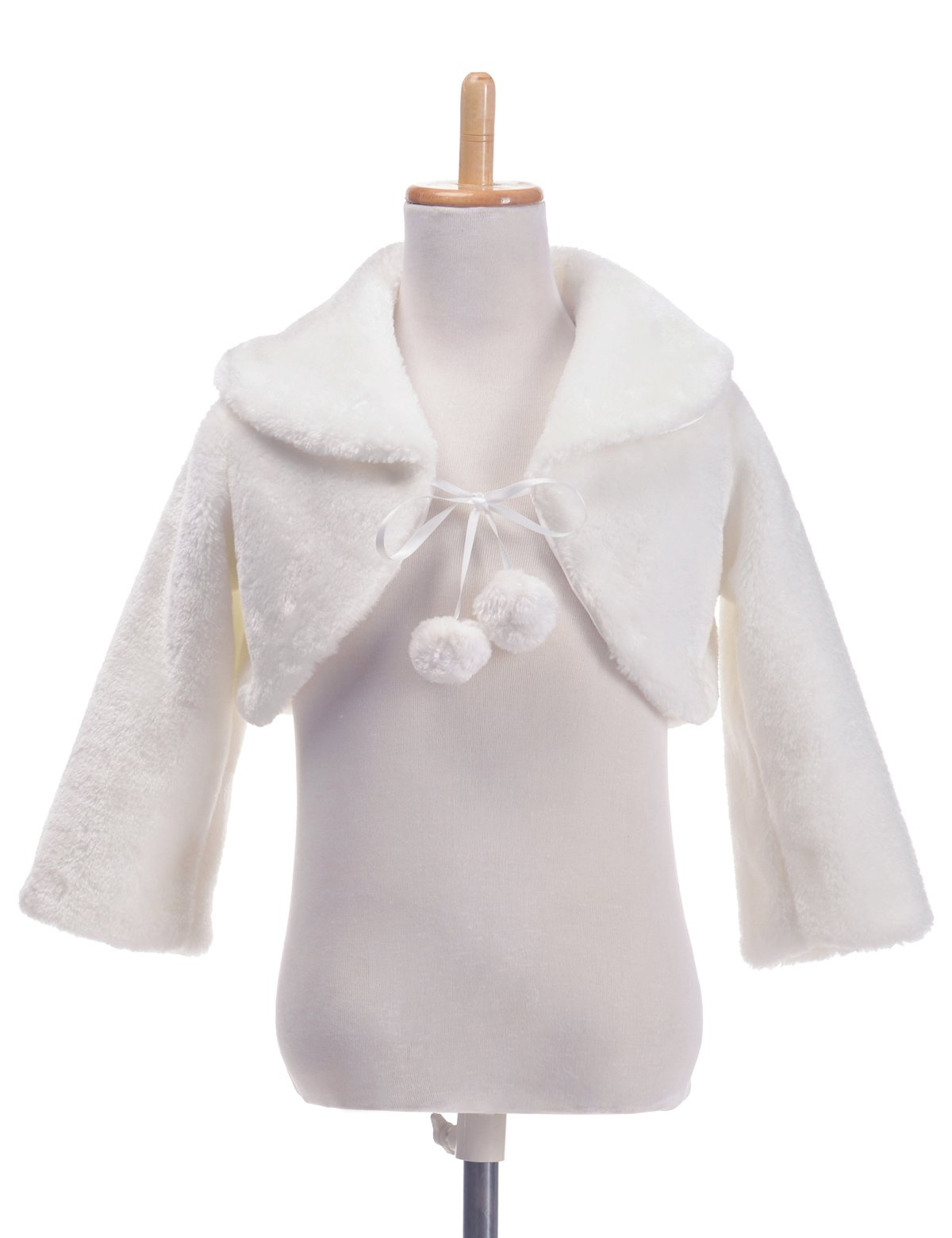Remedios Flower Girl Long Sleeves Bolero Jacket Wedding Party Wrap Shrug, M by Remedios